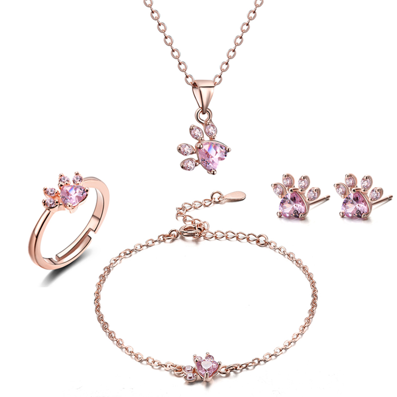 4 Pcs Rose Gold Plated Necklace
